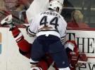 Hockey sobre hielo: boxeadores en patines