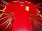 La camiseta de España para el Mundial de Sudáfrica