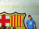 David Villa ya luce con la camiseta del F.C. Barcelona