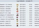 Liga Española 2011/12 2ª División: previa, horarios y retransmisiones de la Jornada 15