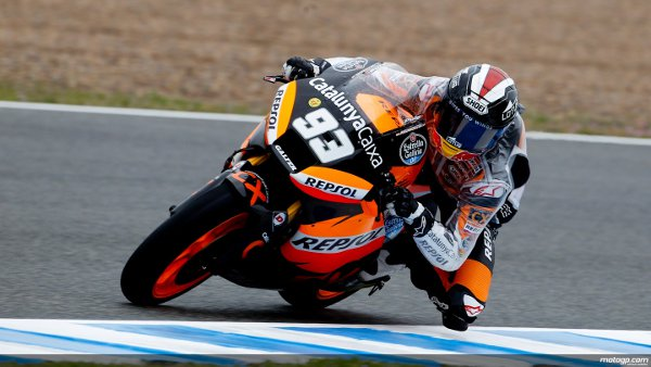 Márquez partirá con la pole en Jerez