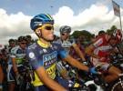 Alberto Contador reapareció en el Eneco Tour tras cumplir su sanción