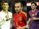 Leo Messi, Cristiano Ronaldo y Andrés Iniesta, los candidatos al premio de la UEFA 2012