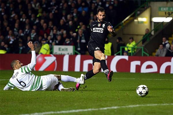 La Juve ganó 0-3 en casa del Celtic