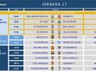Liga Española 2013-2014 2ª División: horarios y retransmisiones de la Jornada 17