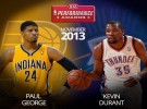 NBA: George y Durant, jugadores del mes de noviembre