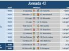 Liga Española 2013-2014 2ª División: horarios y retransmisiones de la Jornada 42