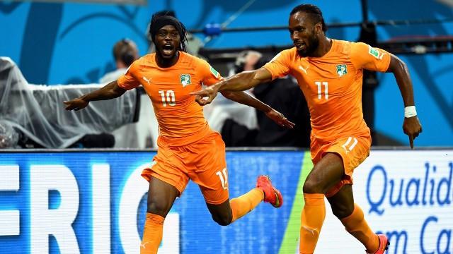 Gervinho anotó el gol de la victoria de Costa de Marfil