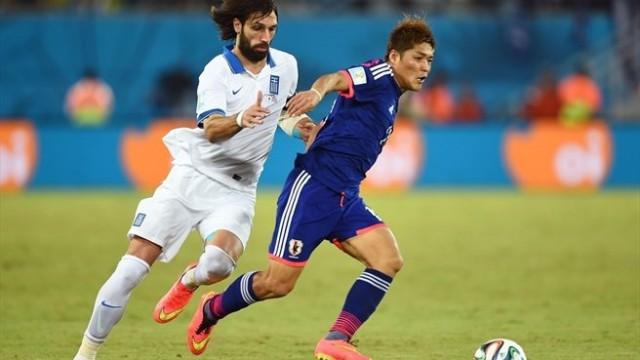 Japón y Grecia empataron sin goles