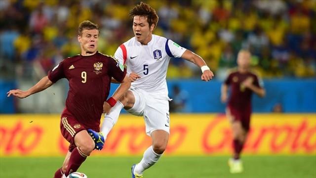 Rusia y Corea empataron a 1