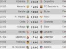 Liga Española 2014-2015 1ª División: horarios y retransmisiones de la Jornada 11