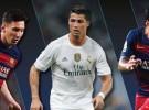Messi, Suárez y Cristiano, los finalistas al premio Mejor Jugador de la UEFA 2014-2015