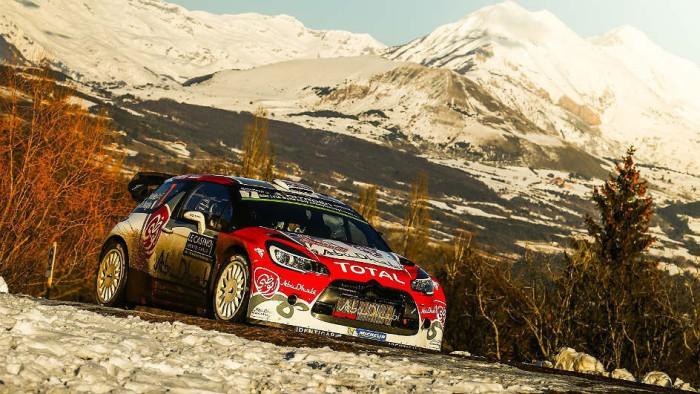 Kris Meeke en el shakedown del Rallye de Monte-Carlo