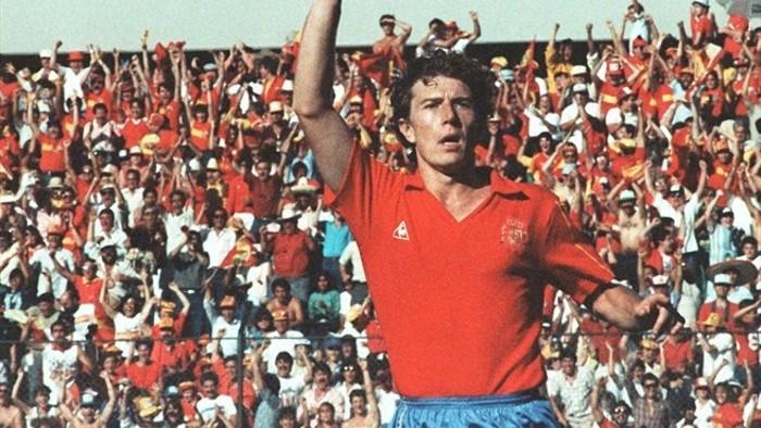 Butragueño lideró a la selección española en la segunda mitad de los 80