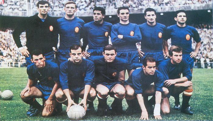 Alineación de España durante la Eurocopa de 1964