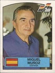Miguel Muñoz, en las cromos de la Eurocopa 1984