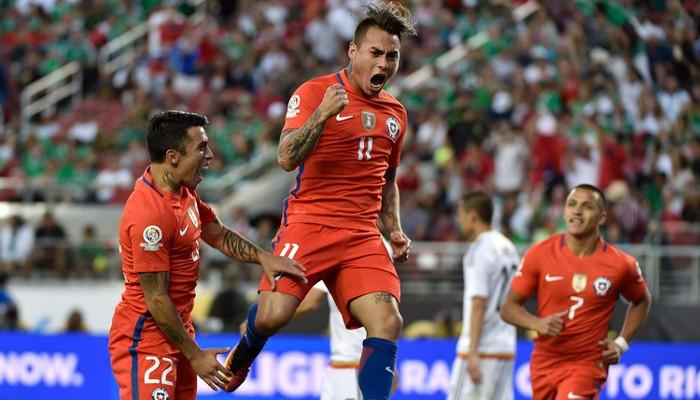 Vargas le hizo cuatro goles a México