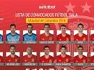 Mundial de fútbol sala 2016: la lista de convocados de España