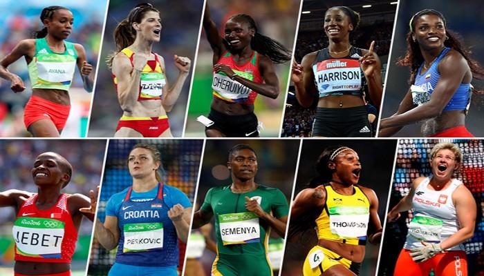 Los diez nominados a la mejor atleta del año en categoría femenina