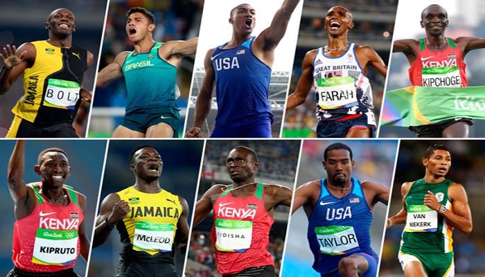 Los diez nominados al mejor atleta del año en categoría masculina