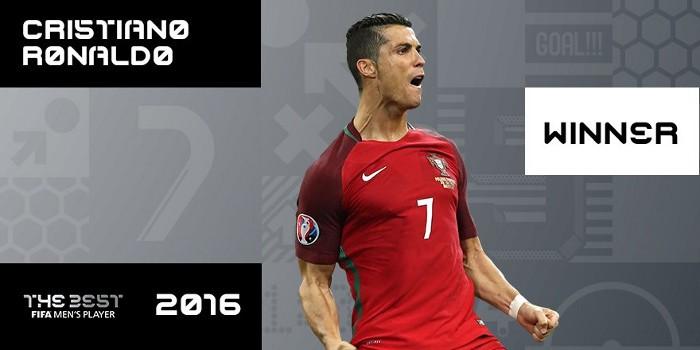 Cristiano Ronaldo también ganó el premio The Best