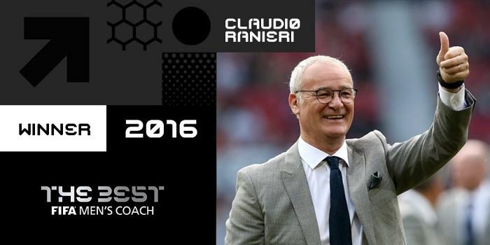 Ranieri ha sido elegido como el mejor entrenador de 2016