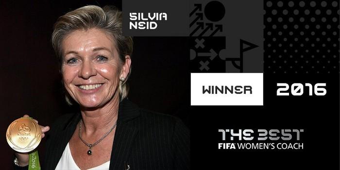 Silvia Neid fue nombrada la mejor entrenadora del año
