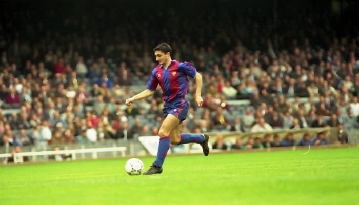 Valverde estuvo dos temporadas en el Barcelona como jugador