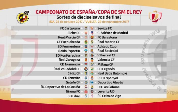 Eliminatorias de dieciseisavos de final de la Copa del Rey 2017-2018