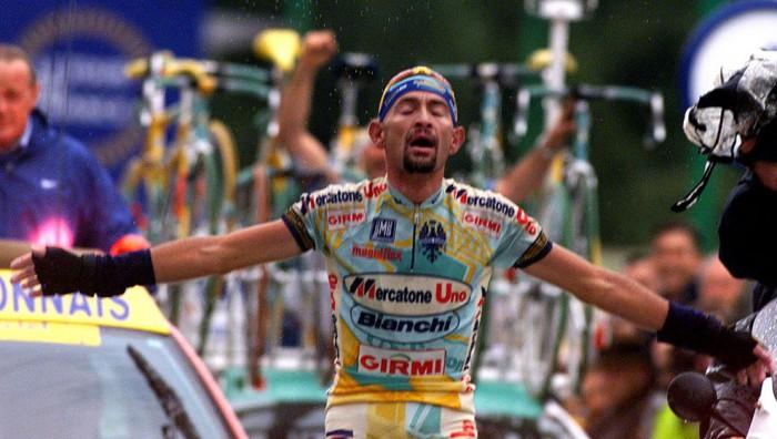 Marco Pantani en el Tour de Francia que ganó