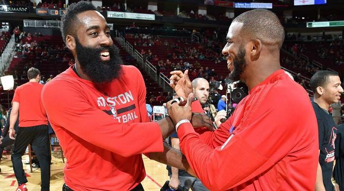 Harden y Paul juntos en los Rockets