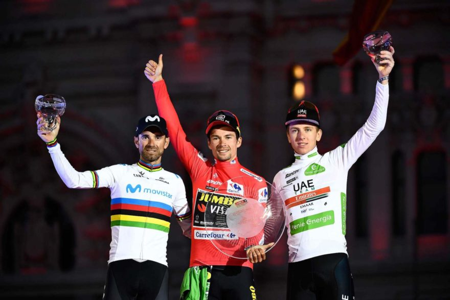 Podium Vuelta Espana 2019