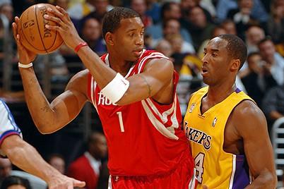 McGrady frente a Kobe Bryant
