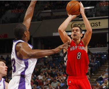 Calderon en la derrota de los Raptors frente a Sacramento