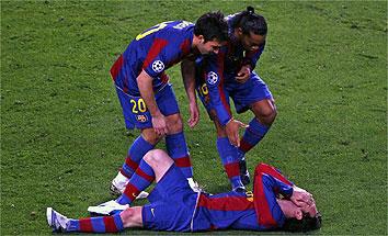 Messi se lesiona frente al Celtic