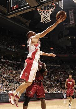 Parker en la victoria de los Raptors frente a Miami