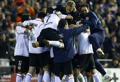 El Valencia elimina al Barça y pasa a la final de la Copa del Rey
