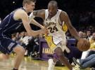 Los Lakers vencen a los Jazz con 38 puntos de Bryant