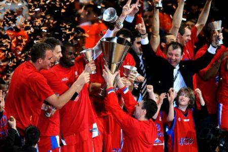 CSKA de Moscu, campeon de la Euroliga 2008 en la Final Four de Madrid