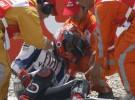 Jorge Lorenzo se fractura el tobillo izquierdo tras una caída
