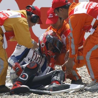 Lorenzo sufrio una caída en el Gran Premio de China
