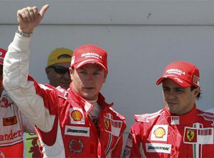 Raikkonen y Massa partirán desde la primera línea en Francia