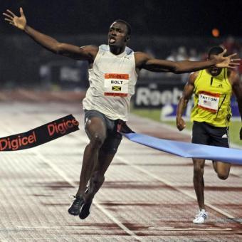 Usain Bolt batió el record del mundo de los 100 metros