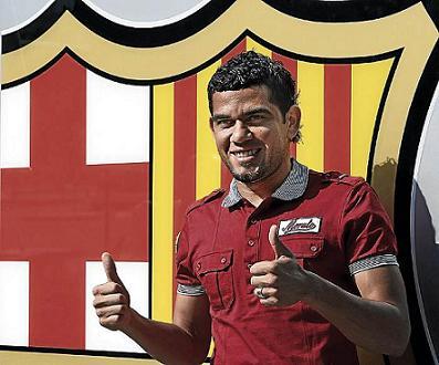 Dani Alves, nuevo jugador del F. C. Barcelona