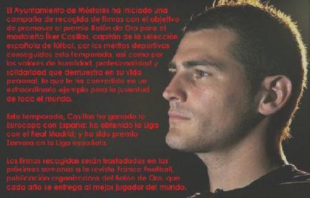 Apoyo para que Casillas sea balon de oro