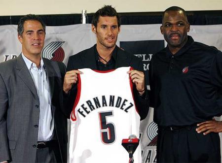 Rudy Fernandez fue presentado en Portland por los Blazers