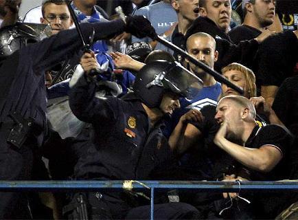 Incidentes en el Atletico de Madrid frente a Marsella