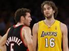 Los Lakers de Gasol ganaron a los Blazers de Rudy Fernández