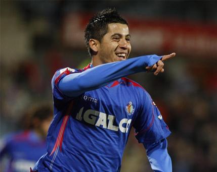 Albin marco dos goles en el Getafe R. Madrid