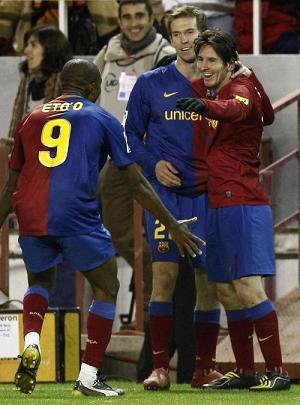 Etoo y Messi marcaron en la victoria del Barça ante el Sevilla